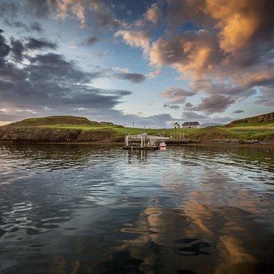 Photo taken of Viðey Island in Reykjavík, Iceland.