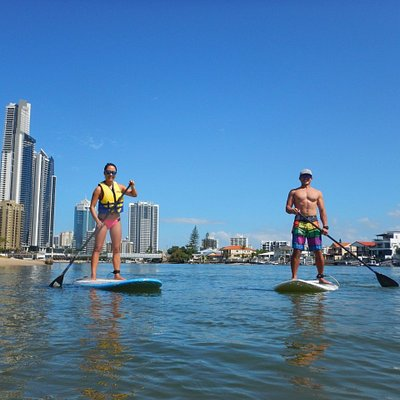 Paddling in the heart of Surfers Paradise