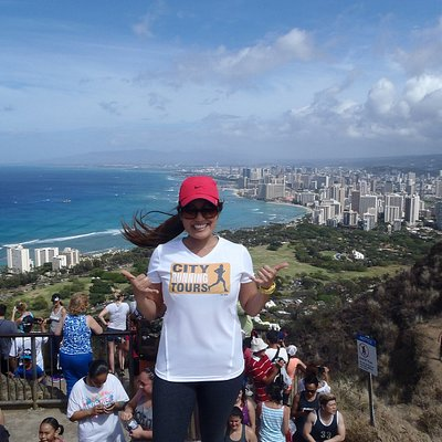 Aloha from the top of Diamond Head