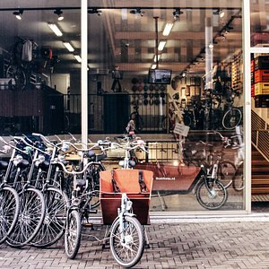 Our rental shop in the south of Amsterdam