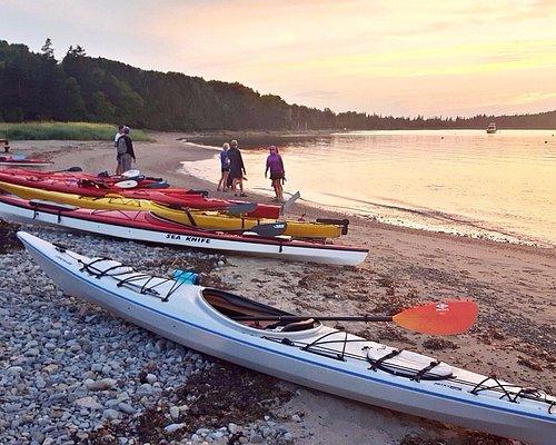 Sunset kayak tour of McNab's Island Halifax