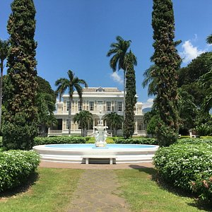 The Beautiful Formal Gardens. The fountain is actually an original piece from 1881!