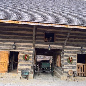 Recreated barn located at the entrance
