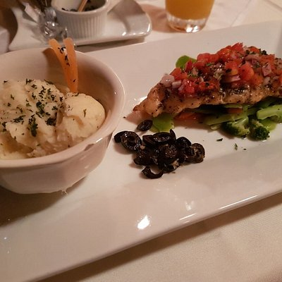 Lime&Tequila Gilled Fish with Creamy Mashed Potatoes. Garlic butter olives...yum.