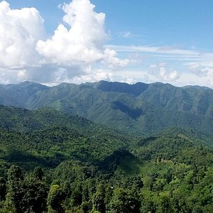 A panoramic view from one mountain ridge to another on the way to the village for the night!