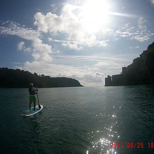Taking a SUP tour out to sea is a great way to start your day.