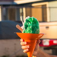 Small green river and lychee shave ice!