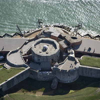Aerial View of the Tudor Castle
