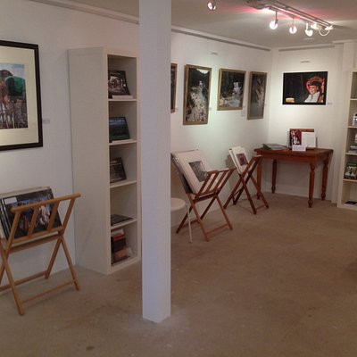 Framed and unframed work, books by local authors and publishers to view and buy.