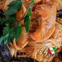 Seafood linguine is sure to please the seafood lovers with house made pasta and fresh local seaf