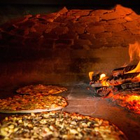The wood fired pizza oven