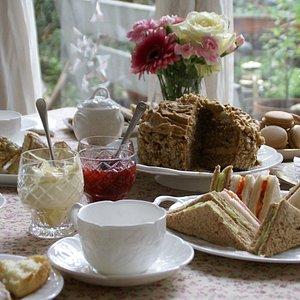 Caroline Hope's tea table