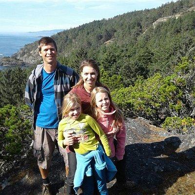 Family hike in East Sooke Park.