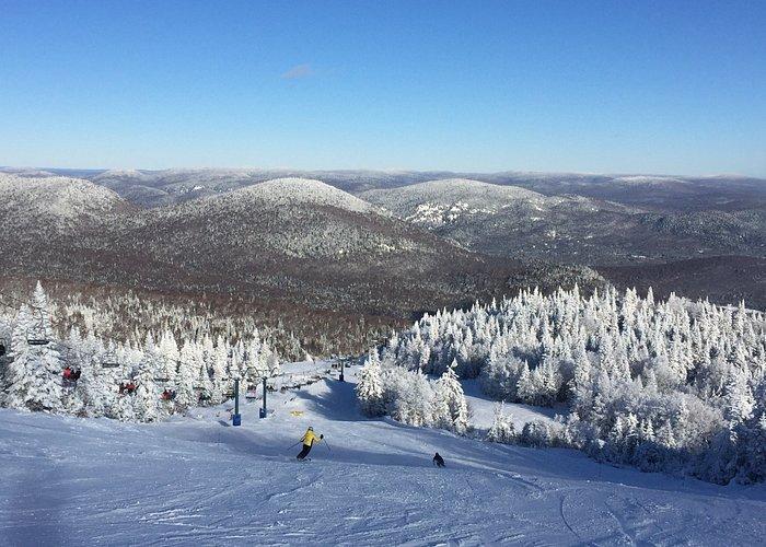 Ski resort mountain top