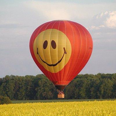 Unser Smiley-Ballon und gleichzeitig unser Unternehmenslogo