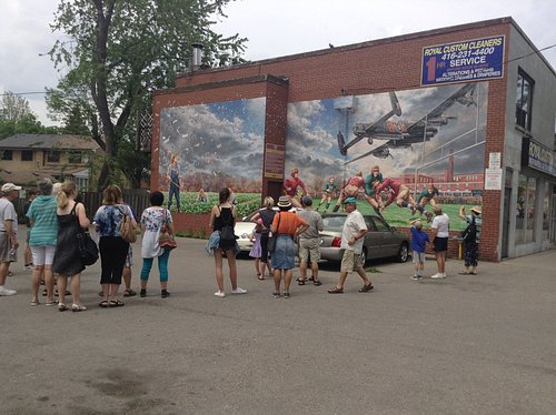 High Flier Mural - WWII historical mural about the Lancaster Bomber