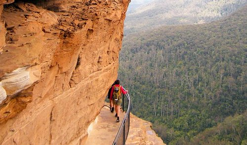 One of Australia's oldest hiking trails. National Pass at Wentworth Falls will leave you spellbo