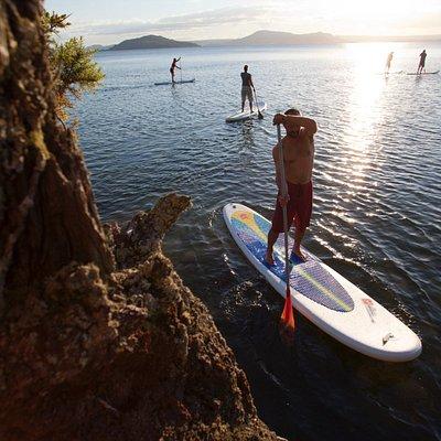 Lake Rotorua, the ancient Volcano.