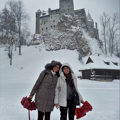 At Bran Castle - My mother and I