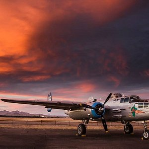 """Arizona Commemorative Air Force Museum's B-25 Bomber """"Maid in the Shade."""""""
