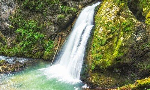 The Evantai waterfall