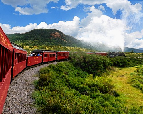 Our coal-fired steam engine carries you through steep mountain canyons, high desert and lush mea