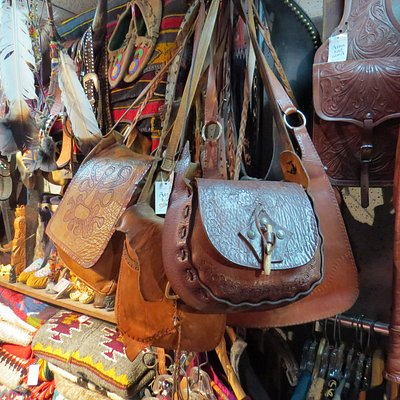 Vintage leather bags from the 70's