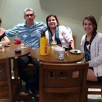 Reunião descontraida em um domingo a noite com a família...