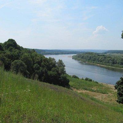 Вид от церкви села Бёхово на Оку в сторону Тарусы