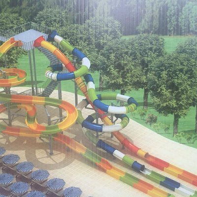 Plans for the newly opened slide.