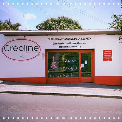 La devanture de l'épicerie fine Créoline. N'hésitez pas à pousser la porte du magasin.