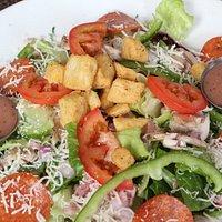 Fresh Salad Greens, Homemade Dressing!