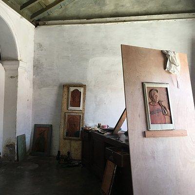En mi estudio Trinidad Cuba.