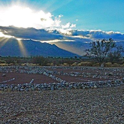 Solstice sunrise at Vista Medicine Wheel