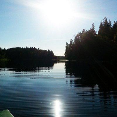 calmness of the lake
