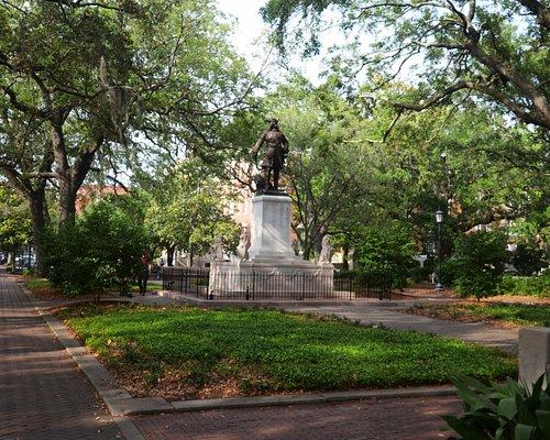 il giardino con statua di James Ogelthorpe