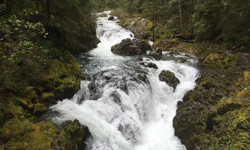 Large Water Fall along the creek