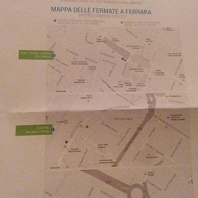 Le fermate di Ferrara dello shuttle