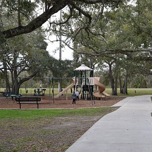 Shot of the playground from the east.