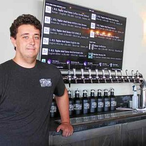 The hop wunderkind Owen Taylor, manager of the Saratoga Springs tap room