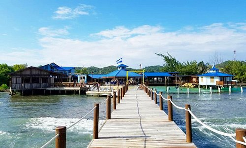 View from the pier at the Buccaneer