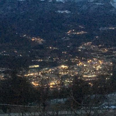 Panorama dal paese di Castellano