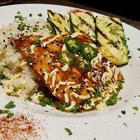 Teri salmon a little sweet & a little spicy