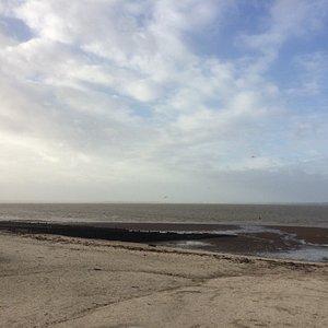 Reeves Beach at low tide in Winter