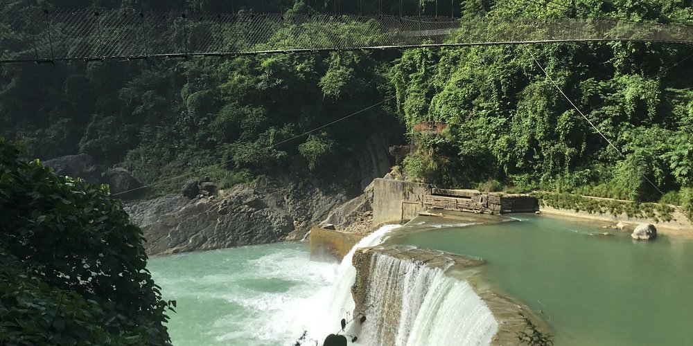 The suspension bridge at Butwal Hydro Power Station.