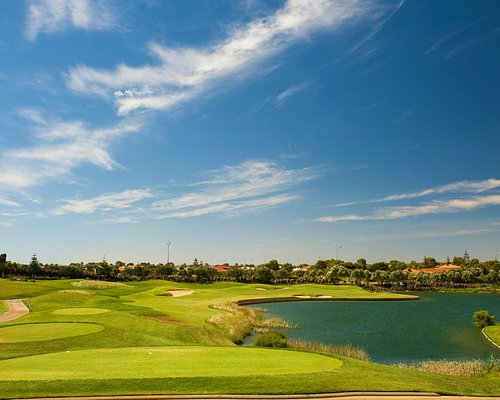 Signature 17th Hole Par 3 165m across the water of the Championship Tee. A superb hole.