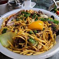 Pork hakka noodles, delicious