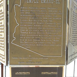 Details on the historic sign out front.