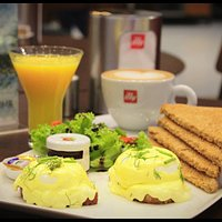 Illy Eggs Benedict - Great way to start your day
