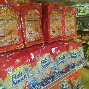 Dry squid and fish snack